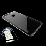 Für HTC Desire 12 Plus Silikoncase Transparent Tasche + 0,3 H9 2.5D Glas Hülle Schutz