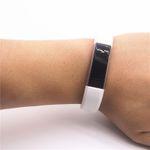 Für Fitbit Alta HR Kunststoff / Silikon Armband für Männer / Größe L Weiß Uhr  Bild 4