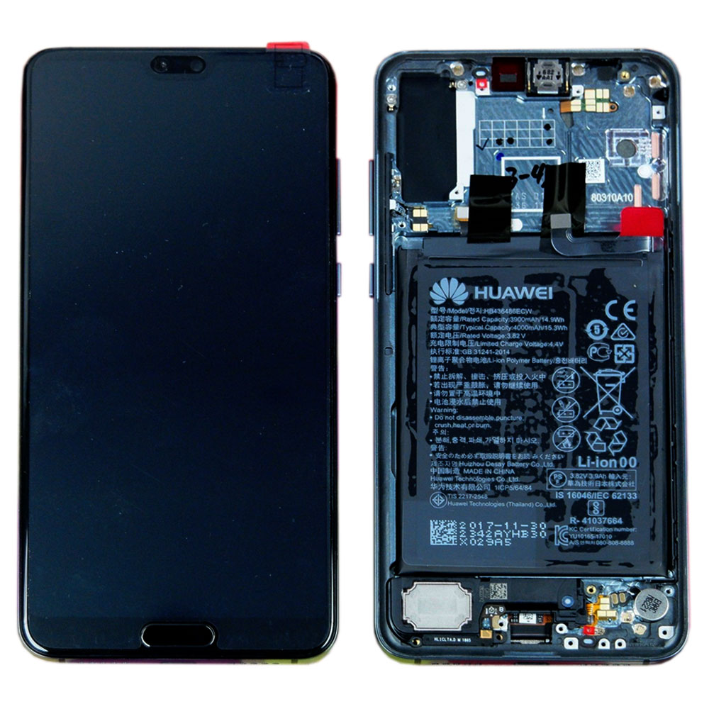 Huawei Display LCD Frame for P20 Pro Service Pack 02351wtu Twilight ...
