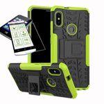 Für Xiaomi Redmi Note 5 Hybrid Case 2teilig Grün + Panzerglas Tasche Hülle Cover Hülle