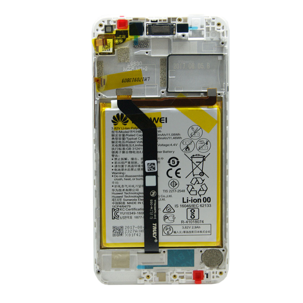 Huawei Display LCD Unit + Frame for Honor 6C Pro Service Pack 02351LNB  White New