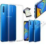 Silikoncase Transparent + 0,26 H9 Hartglas für Samsung Galaxy A9 A920F 2018 Tasche Hülle Cover