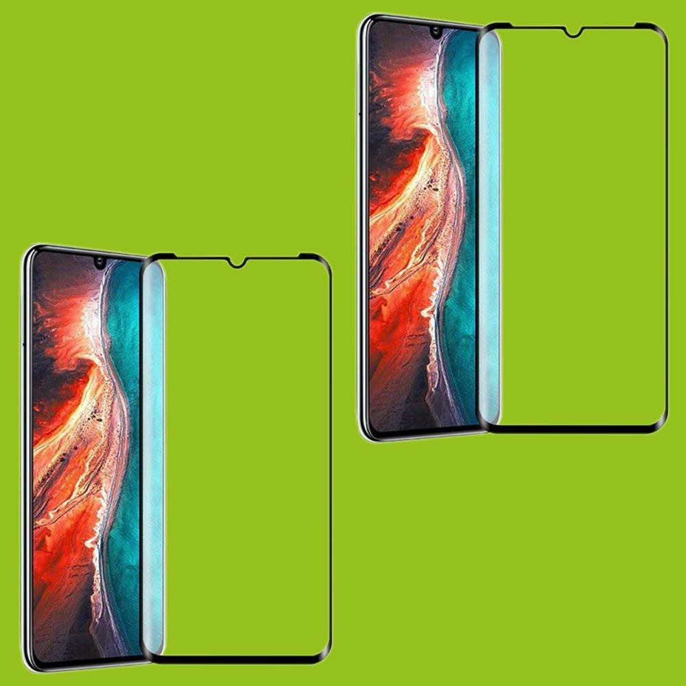 Für Huawei P30 Lite 2x 4D Full Curved Tempered Hart Glas Folie 0,3 Mm