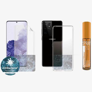 PanzerGlass Samsung Galaxy S21 Ultra Hygiene Schutzhülle Cover Displayschutz