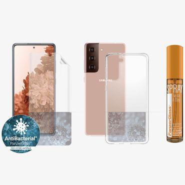 PanzerGlass Samsung Galaxy S21 Plus Hygiene Schutzhülle Cover Displayschutz