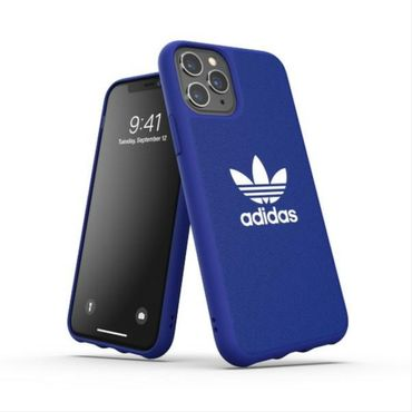 Adidas Apple iPhone 11 Pro CANVAS Silikon Hard Case Cover Schutzhülle Blau