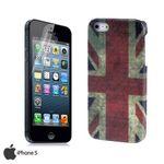 Schutzhülle Deluxe Flagge England Cover für Apple iPhone 5 + Folie