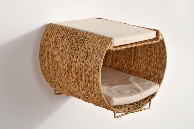katzen tunnel katzen h hle wasserhyazinthe f r die wand montage und zum stellen animal design. Black Bedroom Furniture Sets. Home Design Ideas
