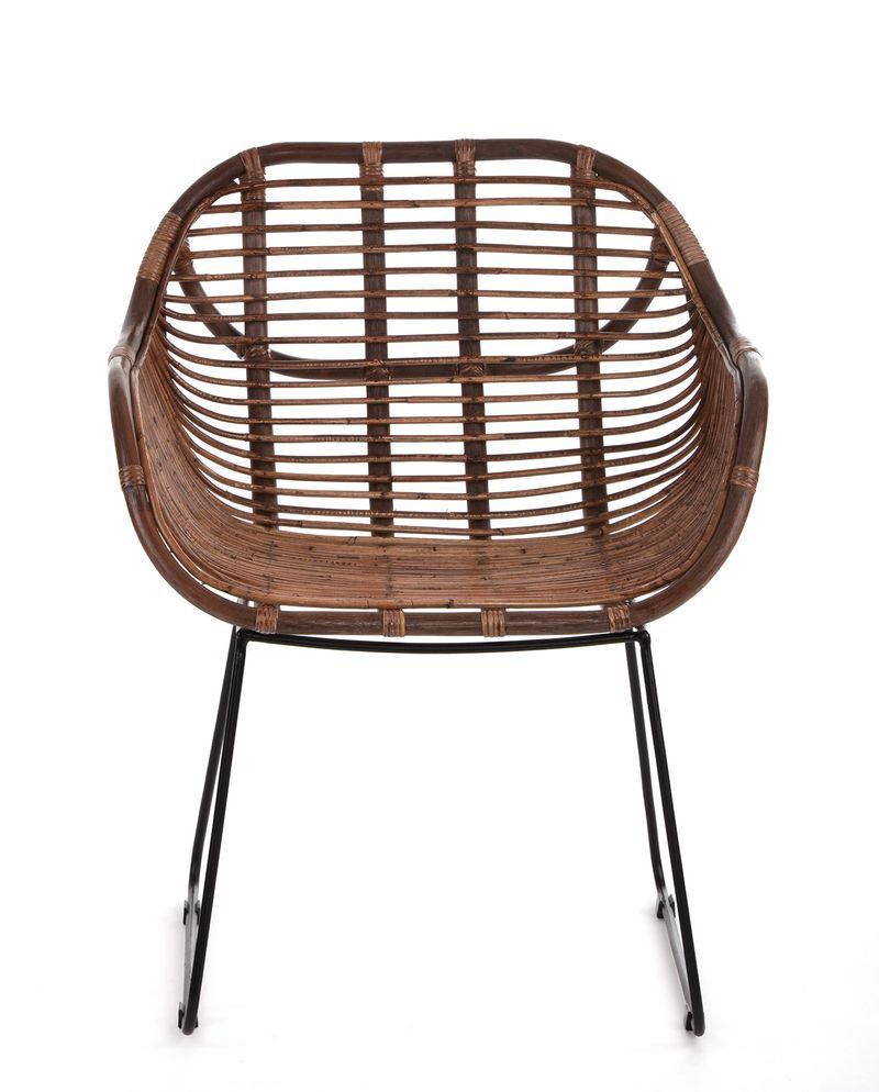 RATTANSTUHL Rattan-Stühle Korb-Stuhl Korb-Sessel - braun - Retro 50er Lounge Loft Esszimmer ...