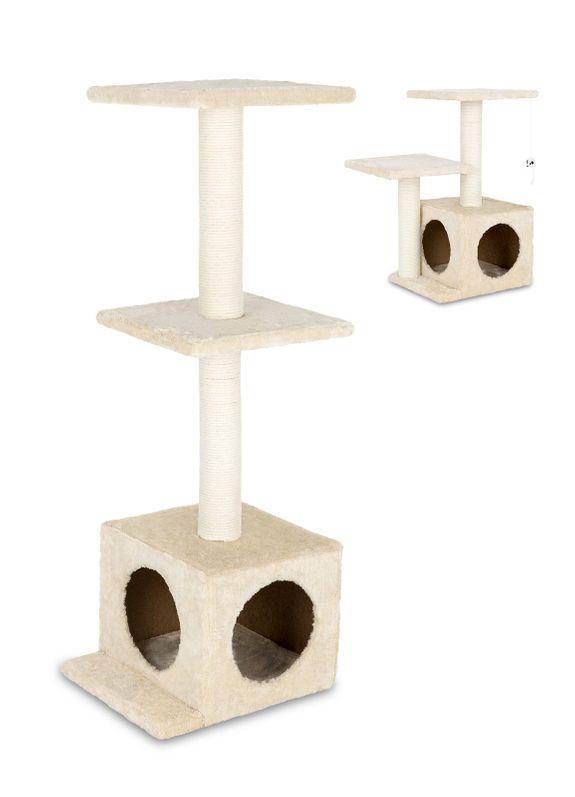 9c173cc003426e Kratzbaum Katze beige mit Spielzeug
