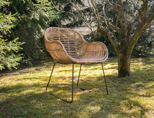 animal design gartenstuhl aus rattan loungesessel balkonstuhl korbstuhl terassenstuhl robust. Black Bedroom Furniture Sets. Home Design Ideas