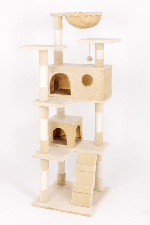 animal-design Kratzbaum MAX (22059) Kletterturm für Katzen Katzenbaum ca. 150 cm Höhe beige braun