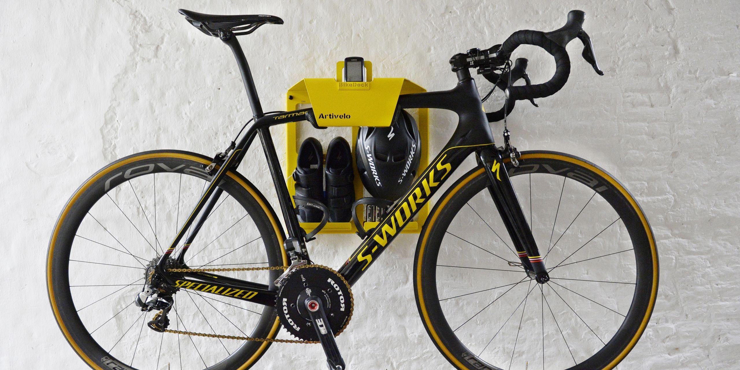 fahrrad wandhalter bikedock tdf gelb 45 x 37 x 45 cm max. Black Bedroom Furniture Sets. Home Design Ideas