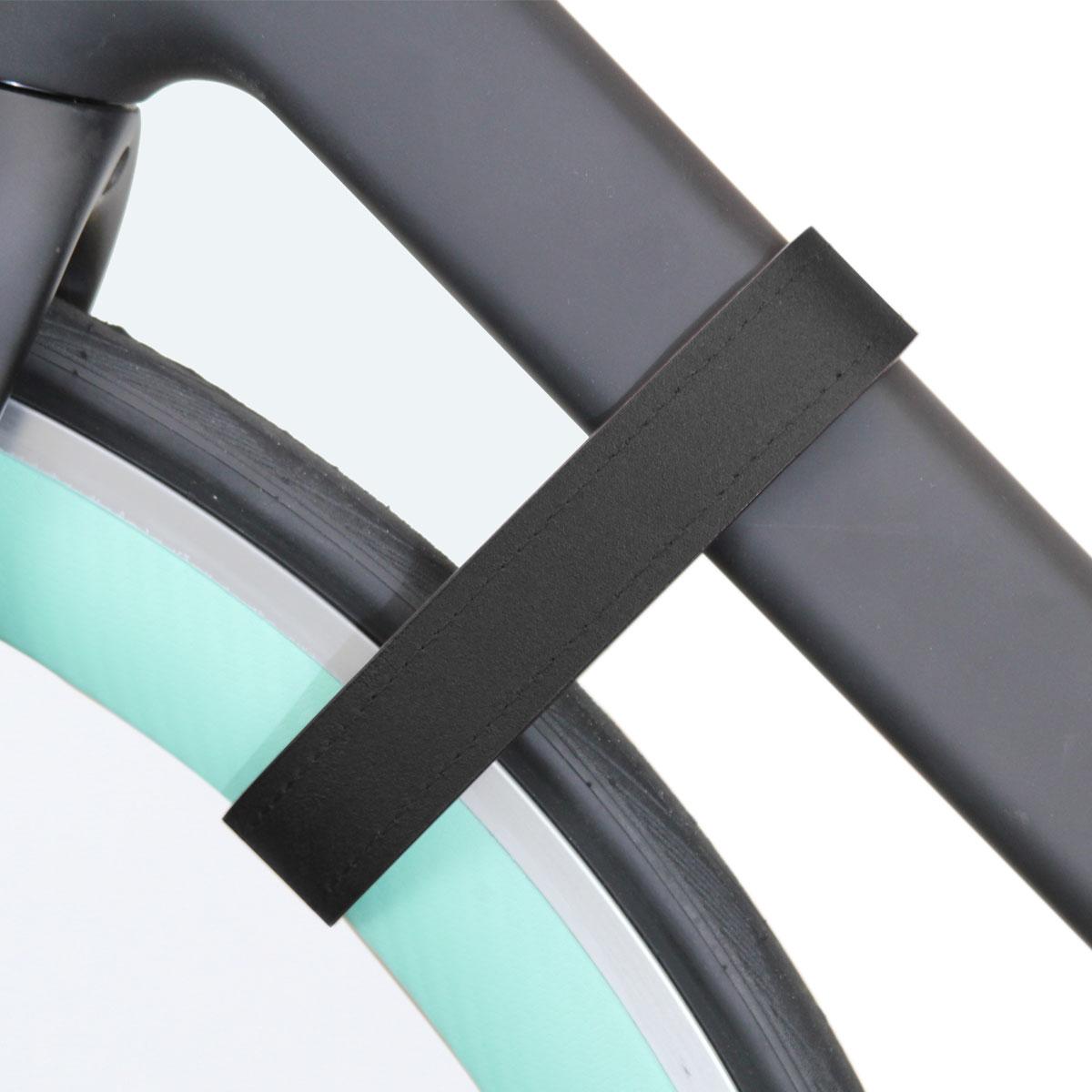 Lederband zur Fixierung des Vorderrads am Unterrohr – Bild 5