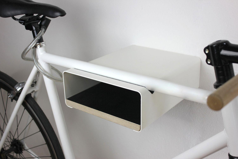 Fahrrad Wandhalter V Shelf - weiß mit versch. Regalböden – Bild 4