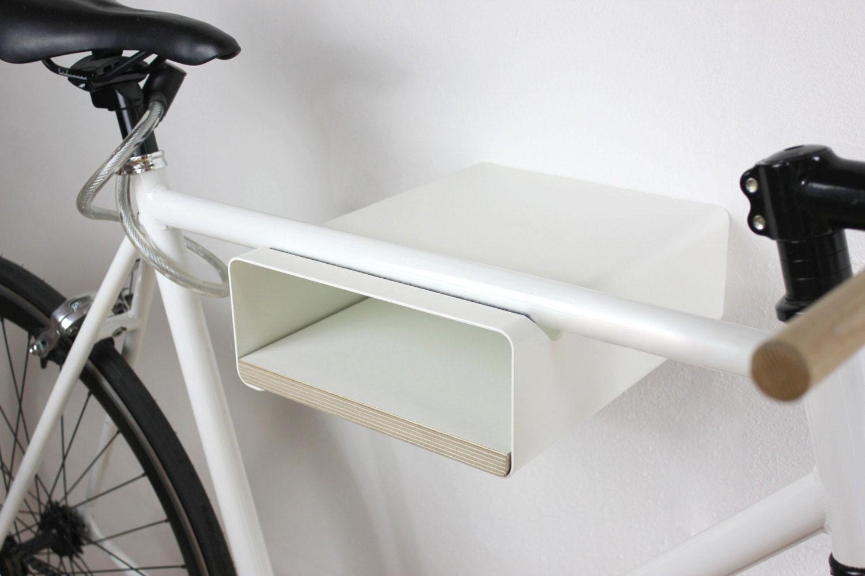 Fahrrad Wandhalter V Shelf - weiß mit versch. Regalböden – Bild 8