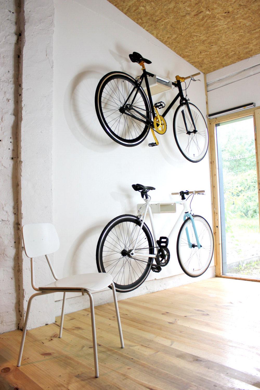 Fahrrad Wandhalter V Shelf - weiß mit versch. Regalböden – Bild 10