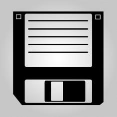 3 1/2-inch Diskette Wandaufkleber