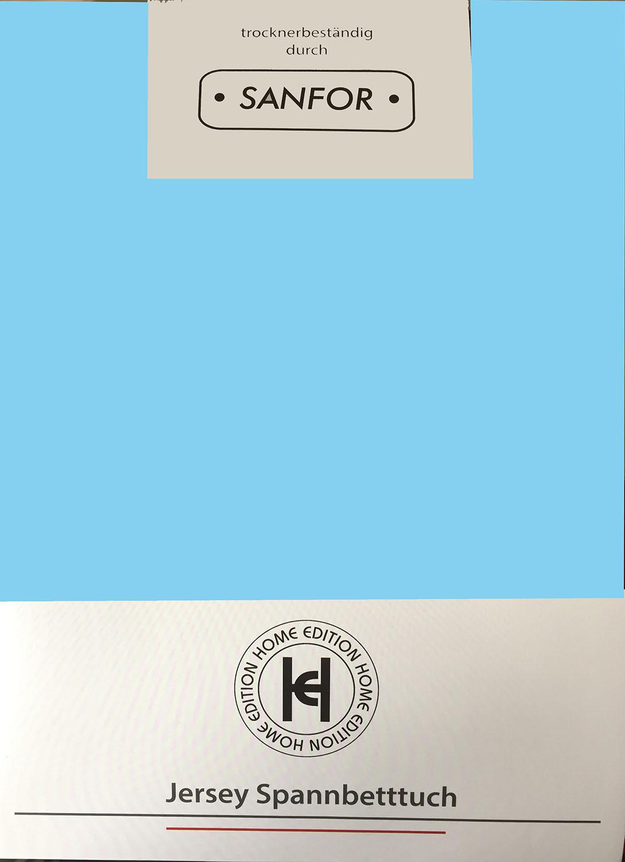 Kuschelweiches Spannbettlaken Jersey 100x200cm 100/% BW Top Qualität Braun