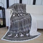 Wohndecke Kuscheldecke 150x200cm Fleece Lammfell Optik