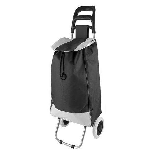 Einkaufstrolley Schwarz mit Rädern / klappbar