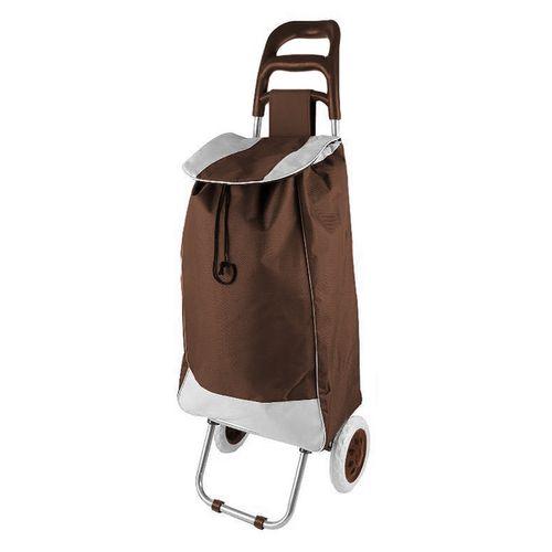 Einkaufstrolley mit Rädern / klappbar Braun