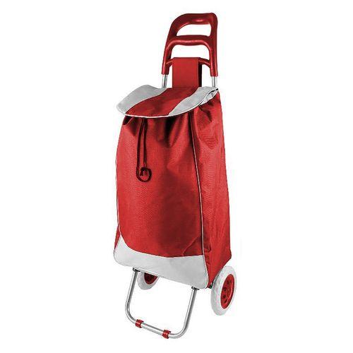 Einkaufstrolley Rot mit Rädern / klappbar