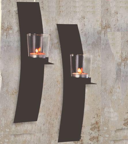 2er Set Wandkerzenhalter für Teelichter – Bild 1