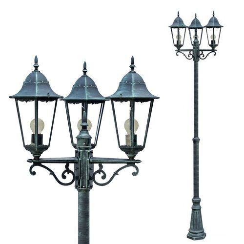 Kandelaber Gartenlampe Laterne Aluguß Grün-Schwarz – Bild 1