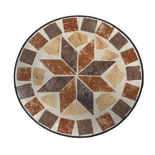Mosaik Blumenhocker Metall 3er Set Rund – Bild 3