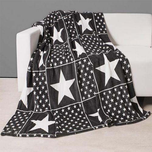 Wohndecke mit Sternen Dunkelgrau 150x200cm – Bild 2