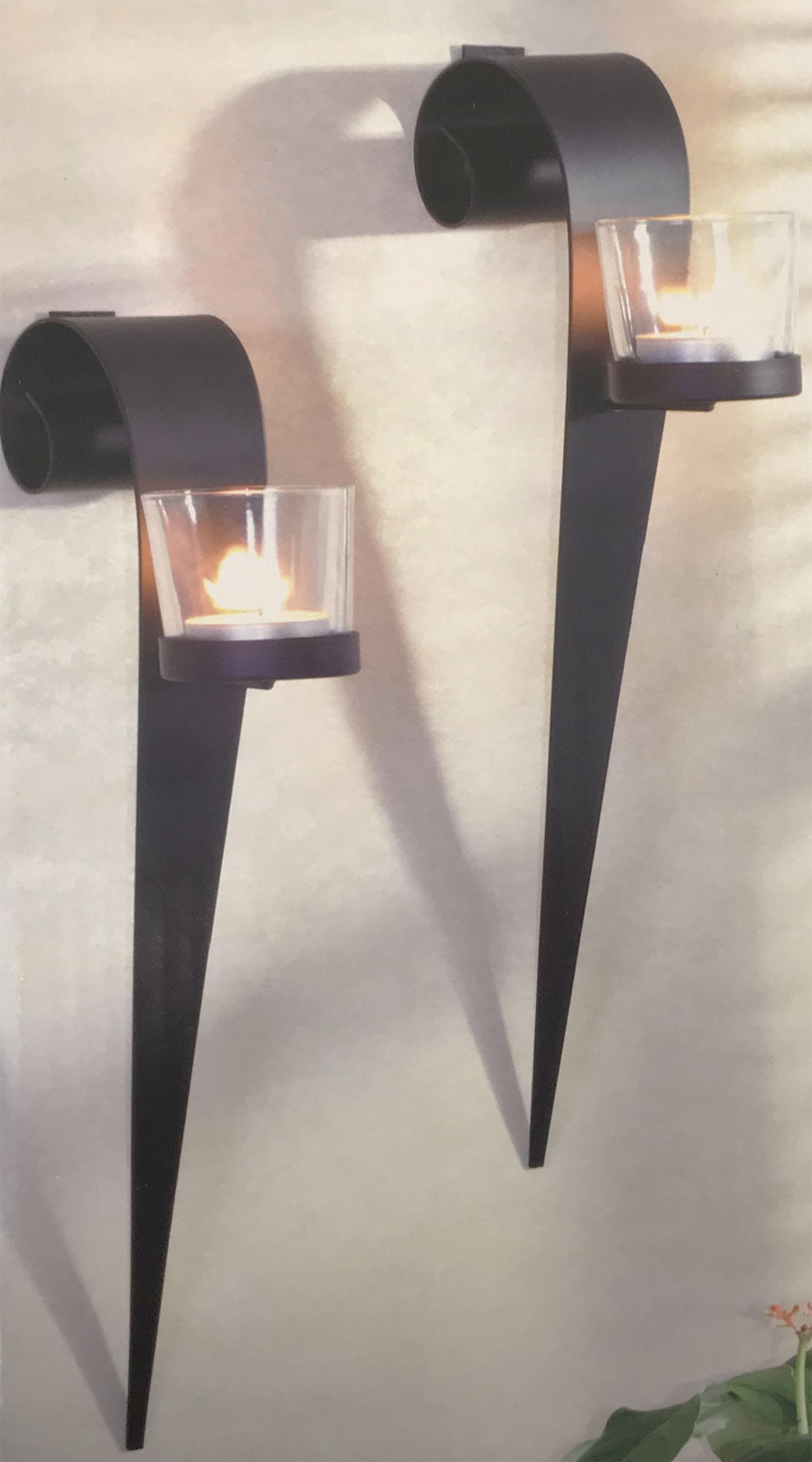 2er set wandkerzenhalter f r teelichter m bel wohnen dekoration. Black Bedroom Furniture Sets. Home Design Ideas