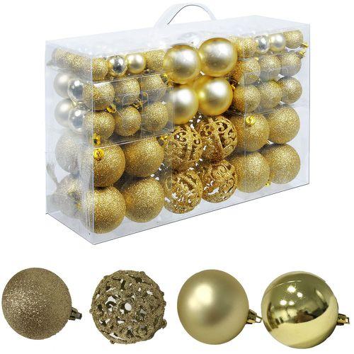 100 Stück Weihnachtskugeln Gold Ø 3/ 4/ 6cm