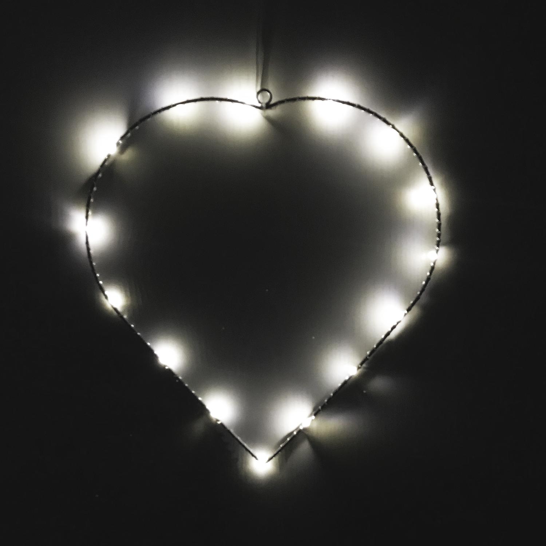 LED Weihnachts-Herz Metall H 30 cm Weihnachten Weihnachtsbeleuchtung