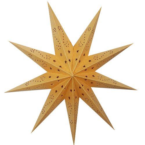 Papierstern Gold Ø60cm 9 Zacken