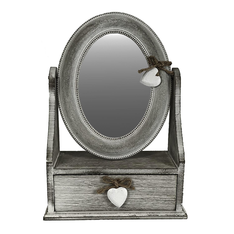 schmuckkasten mit spiegel h b t 30x22x11 cm m bel wohnen aufbewahrung ordnung. Black Bedroom Furniture Sets. Home Design Ideas