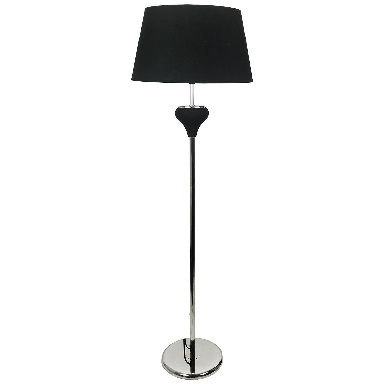 elegante stehlampe schwarz 150 cm m bel wohnen beleuchtung. Black Bedroom Furniture Sets. Home Design Ideas