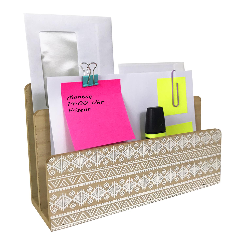 briefablage holz 24x9x15cm haushalt ordnung und aufbewahrung. Black Bedroom Furniture Sets. Home Design Ideas