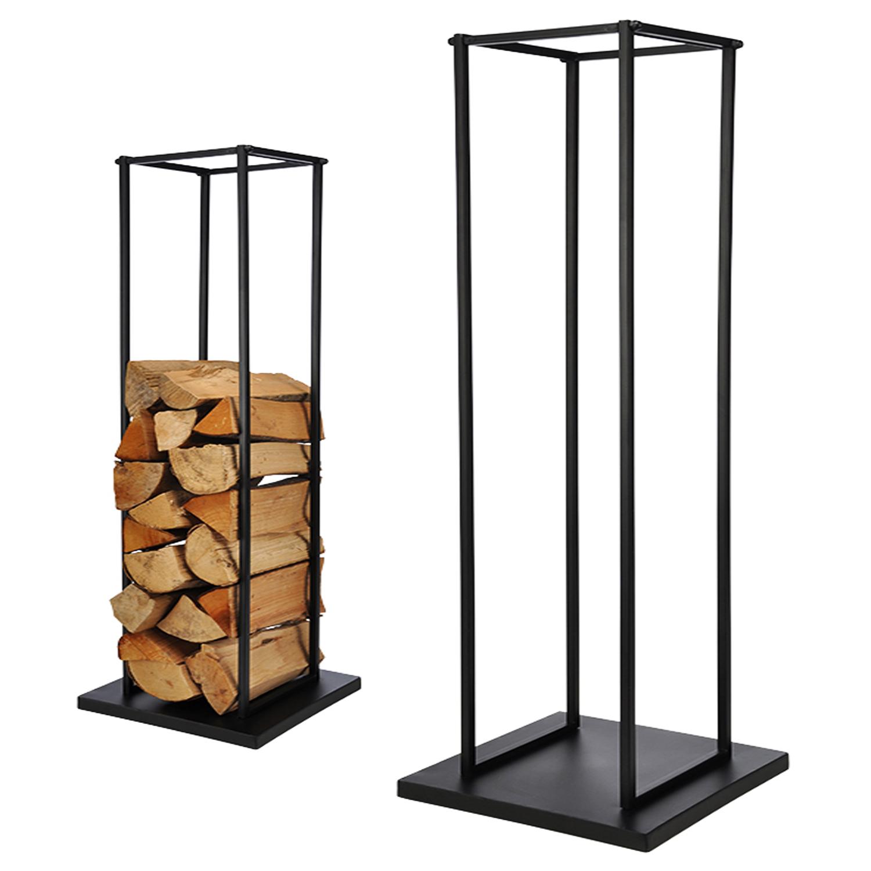 kaminholzablage aus stahl 34 x 34 x 121 cm m bel wohnen. Black Bedroom Furniture Sets. Home Design Ideas