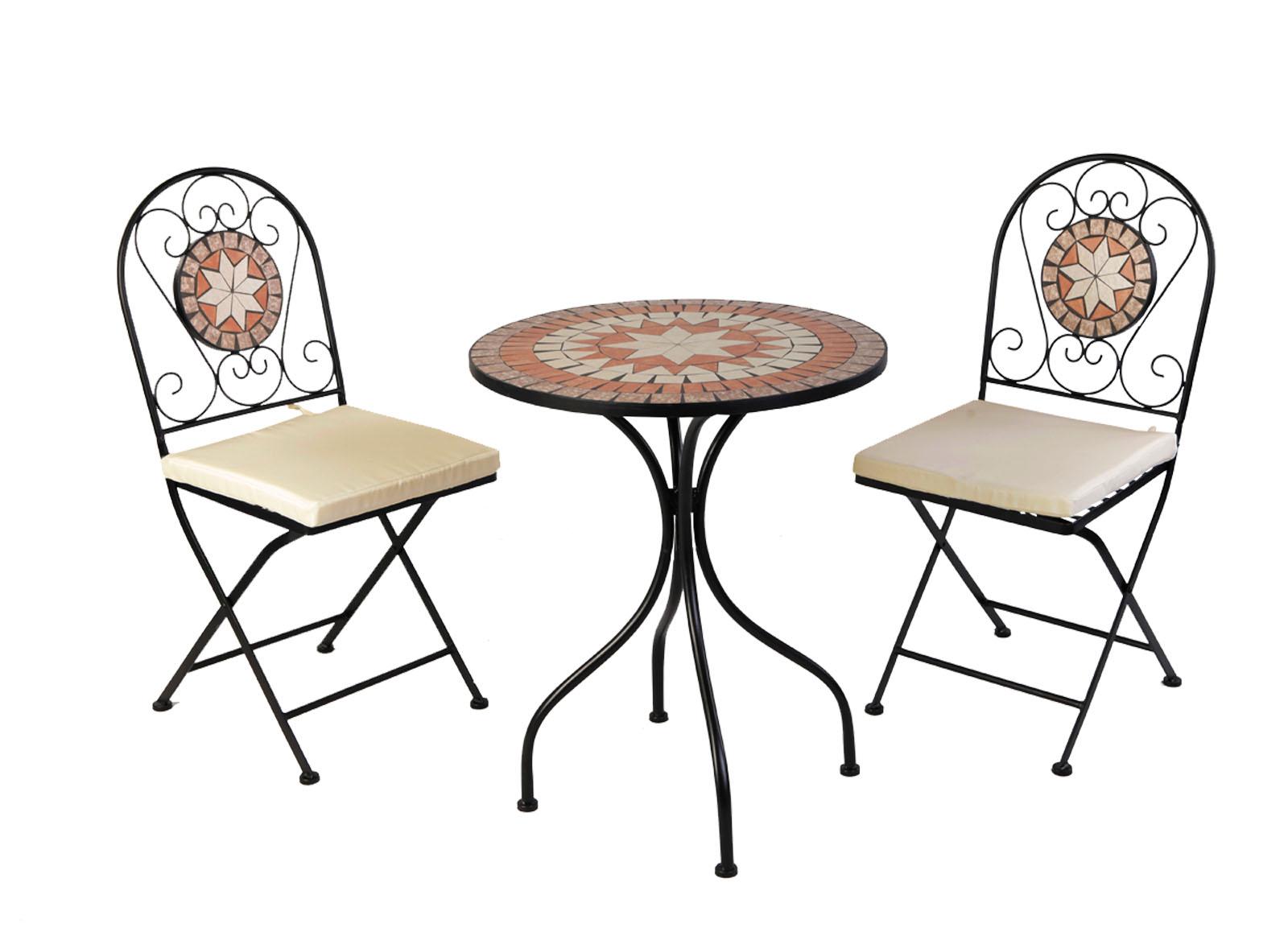 Dekoratives 5 Tlg Mosaik Set Sitzgarnitur Sitzgruppe