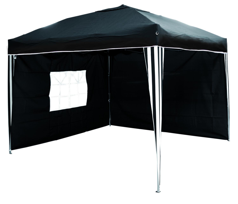 alu falt pavillon 3 x 3 m meter inkl 2 seitenteile schwarz wei garten sonstiges. Black Bedroom Furniture Sets. Home Design Ideas