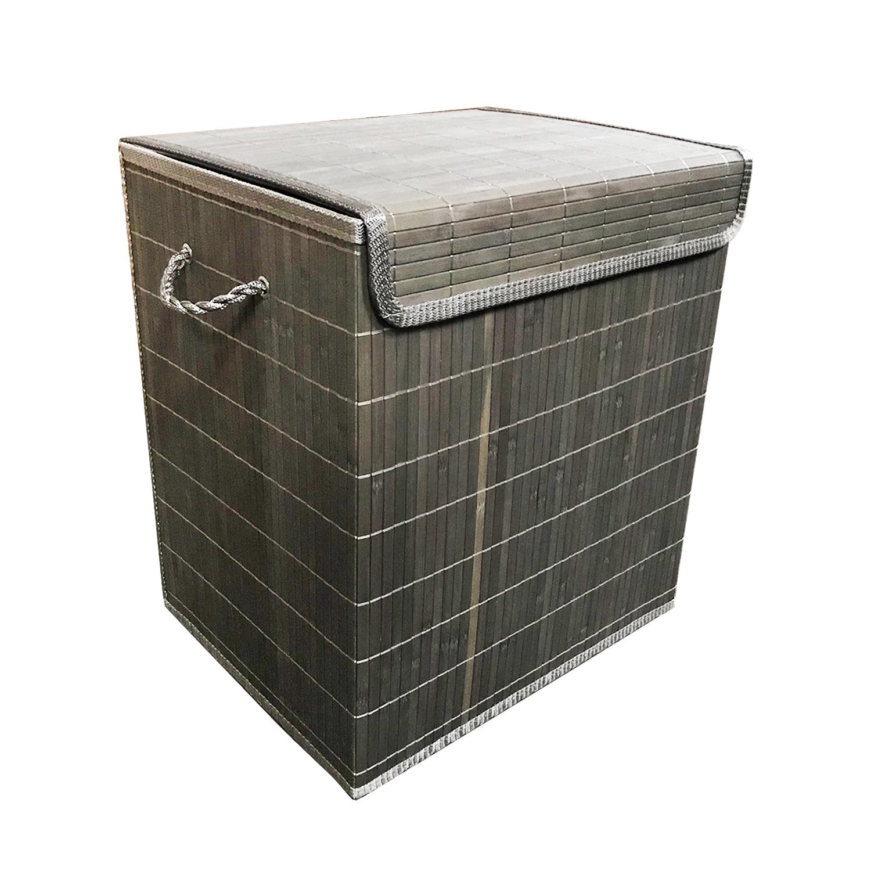 bambus w schekorb olivgr n 41 x 32 x 45 cm haushalt ordnung und aufbewahrung. Black Bedroom Furniture Sets. Home Design Ideas