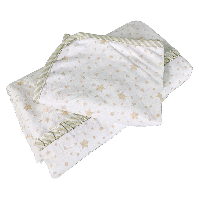 Jersey Baby Bettwäsche Sterne Taupe 100 Baumwolle Mit Rüsche