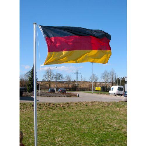 4-teiliger Fahnenmast inkl. Deutschlandflagge WM EM H6,20m