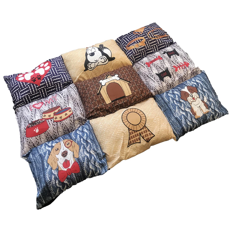 hundebett kissen teppich bunt 55x80x6cm rund ums tier. Black Bedroom Furniture Sets. Home Design Ideas