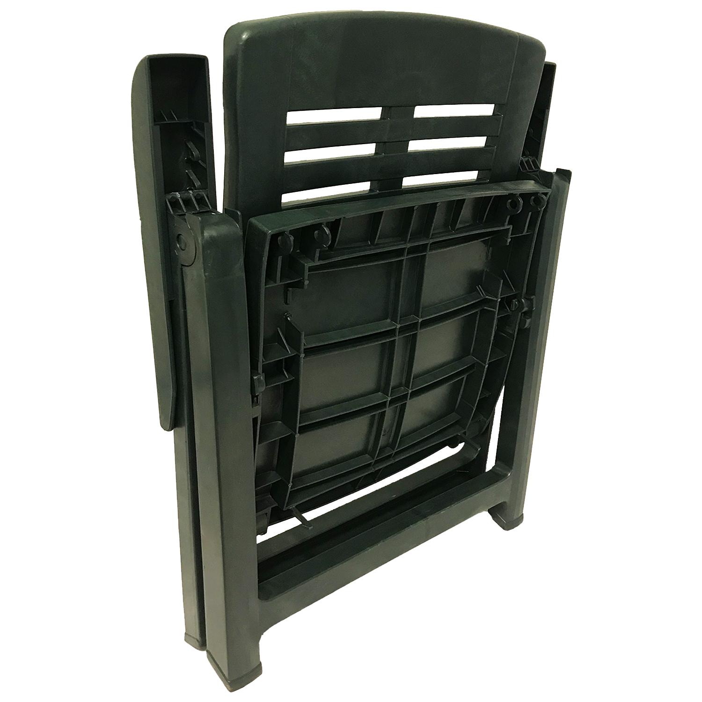klappstuhl kunststoff gr n 5 positionen garten gartenst hle. Black Bedroom Furniture Sets. Home Design Ideas