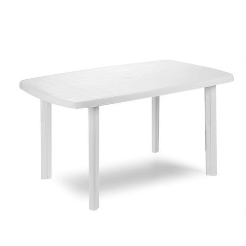 Gartentisch Weiß 140x90x72cm