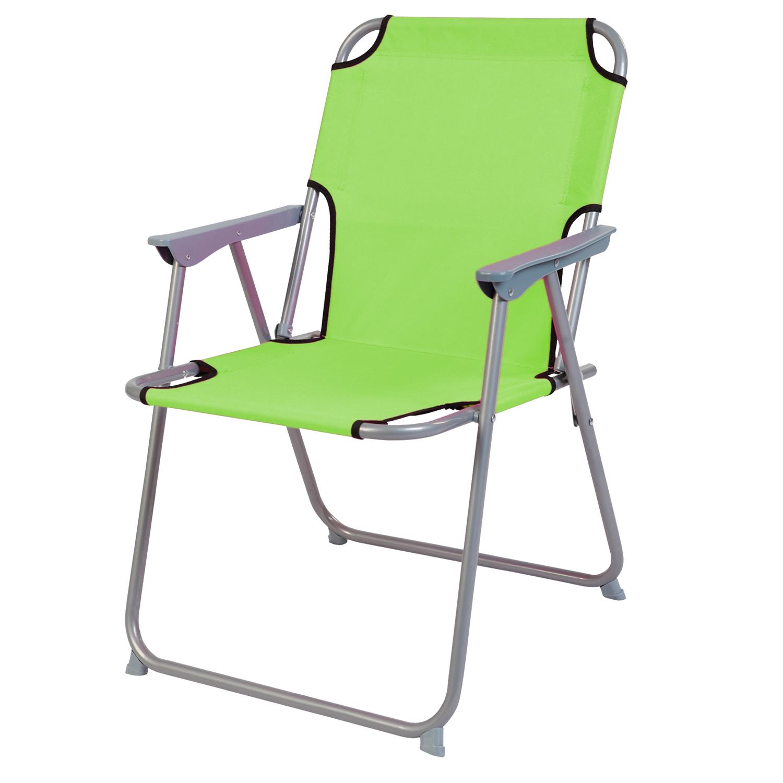 3-teiliges Campingmöbel Set Alu mit Tragegriff Camping lime-grün L70xB50xH59cm