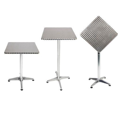 Bistrostehtisch Aluminium 60x60cm H70/110cm Höhenverstellbar klappbar – Bild 1