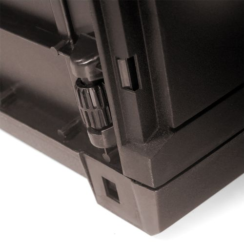Auflagenbox auf Rollen Kunststoff Rattan-Optik Mokka 310L – Bild 5